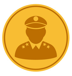 Army general gold coin vector