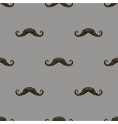 Black Hairy Mustache Silhouettes Seamless Pattern vector image