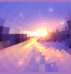 blue and pink colors concentric shining mosaic vector image
