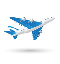 Blue and White Airplane Business Icon vector image