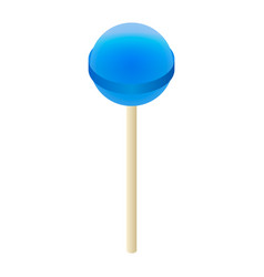 blue lollipop icon isometric style vector image