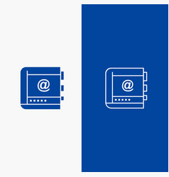 book business contact contacts internet phone vector image