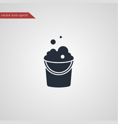 Bucket icon simple vector