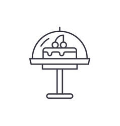 cake line icon concept cake linear vector image