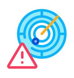 Caution radar icon outline vector