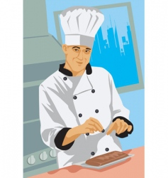 chef dish vector image vector image