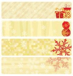 Christmas beige banners vector