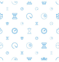 clock icons pattern seamless white background vector image