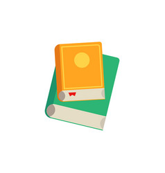 closed books with colorful hardcover and paper vector image