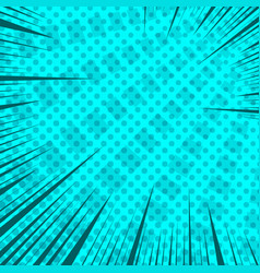 Comic dynamic rapid motion turquoise concept vector