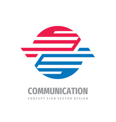 communication logo concept design abstract vector image