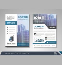 Corporate identity template brochure vector