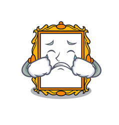 Crying picture frame mascot cartoon vector