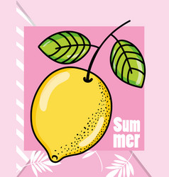 cute lemons summers cartoons vector image