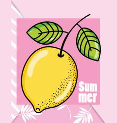 Cute lemons summers cartoons vector