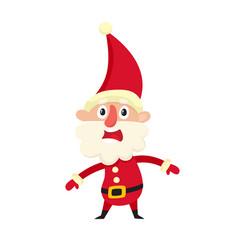 cute santa claus upset cartoon vector image