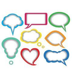 Dialogue bubbles vector