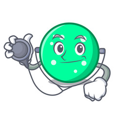 Doctor circle character cartoon style vector