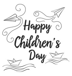 doodle childrens day style collection vector image