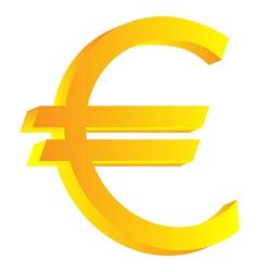 Euro icon vector image