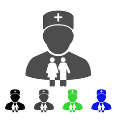 family doctor flat icon vector image