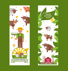 farm products vertical banner vector image