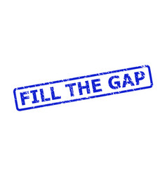 Fill gap seal with rubber style and rounded vector