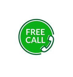 free call icon free phone call care sign vector image
