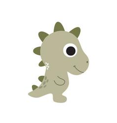Funny little cartoon dinosaur vector