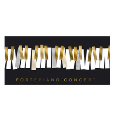 gold and black invitation for music concert vector image