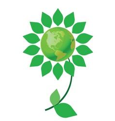 green earth flower vector image