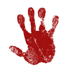 hand paint print isolated white background red vector image