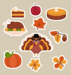 happy thanksgiving set happy thanksgiving set vector image