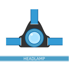 headlamp icon vector image