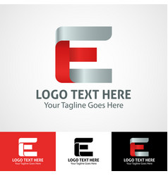 hi-tech trendy initial icon logo e vector image