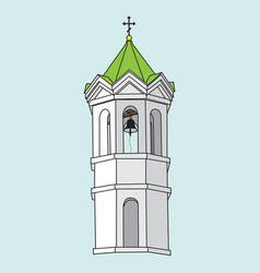 Image of a church bell tower vector