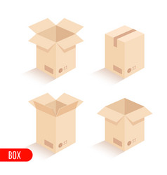 isometric carton packaging box vector image