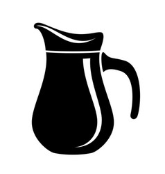 jug milk or water canister pitcher simple logo vector image
