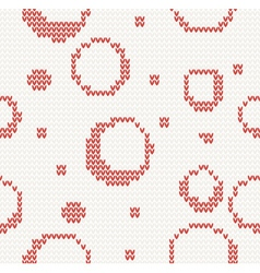 Knitted seamless christmas pattern vector