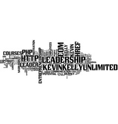 Leadership styles text background word cloud vector