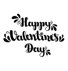 lettering happy valentines day isolated on white vector image