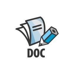 Logo document vector