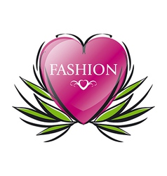 logo red heart for fashion vector image