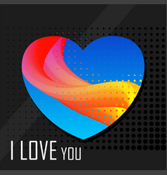 love abstract card vector image