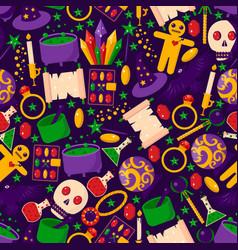 Magic stuff seamless pattern banner witchcraft vector