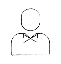 man pictogram wearing bowtie icon image vector image