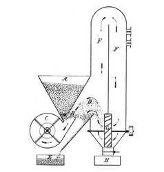 Method of and apparatus for mixing coal dust and vector