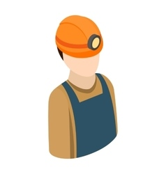 Miner isometric 3d icon vector image