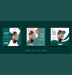 Modern watch social media feed post design vector
