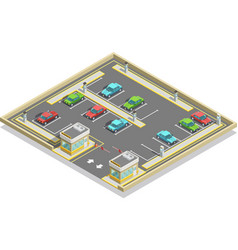 Parking zone isometric location vector